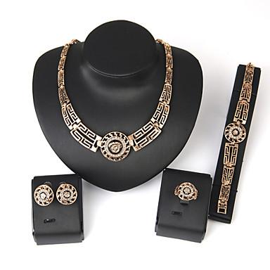 Dame Seturi de bijuterii Africa Nuntă Petrecere Aliaj Inele 1 Pereche de Cercei 1 Brățară Coliere