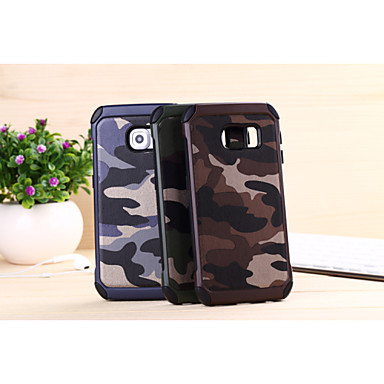 Case For Samsung Galaxy Samsung Galaxy Case Shockproof Back Cover Camouflage Color PC for S6 edge plus S6 edge S6 S5