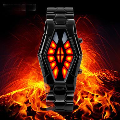 SKMEI Homens Relógio Esportivo Relógio de Moda Relógio de Pulso Japanês Quartzo LED Impermeável Aço Inoxidável Banda Luxuoso Preta