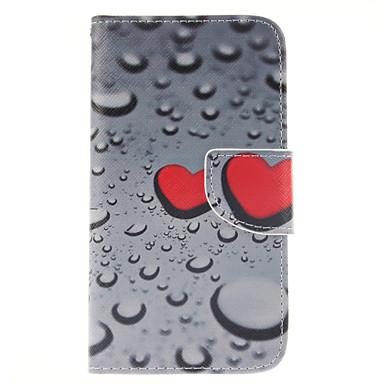 Voor Samsung Galaxy hoesje Portemonnee / Kaarthouder / met standaard / Flip hoesje Volledige behuizing hoesje Hart PU-leer Samsung S5