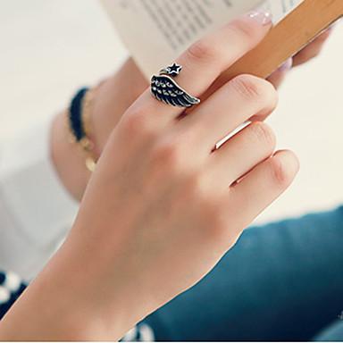 Anéis Casamento / Pesta / Diário / Casual Jóias Liga Feminino Anéis Grossos 1pç,Ajustável Dourado / Prateado