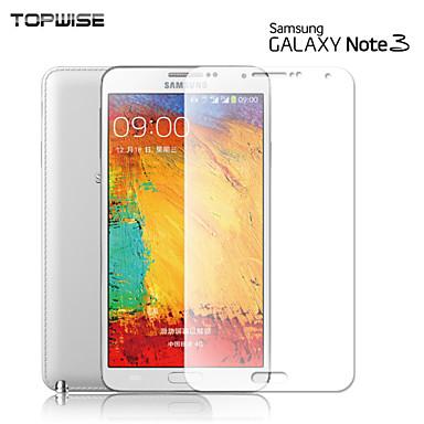galáxia topwise®samsung Nota3 temperado protetores de tela de vidro dureza 9h 0,3 milímetros 2.5d anti-risco de choque prova de explosão