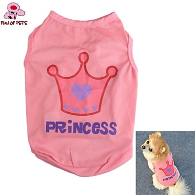 Gato Cachorro Camiseta Roupas para Cães Fantasias Casamento Tiaras e Coroas Carta e Número Rosa claro Ocasiões Especiais Para animais de