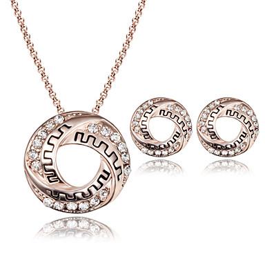 Damskie Zestawy biżuterii Imitacja diamentu Luksusowy Modny Ślub Impreza Codzienny Casual 1 Naszyjnik 1 parę kolczyków Biżuteria
