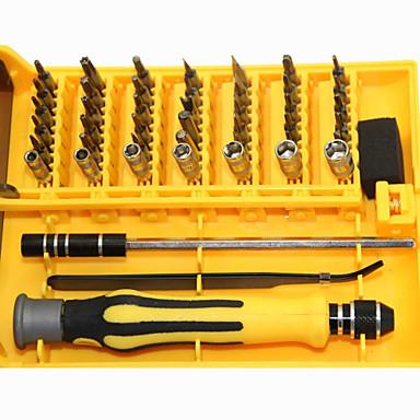 45 em 1 conjunto de reparo ferramenta de abertura de fenda de precisão portáteis conjunto desmontagem