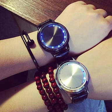Dames Modieus horloge Kwarts LED PU Band Zwart