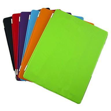 Capinha Para iPad 4/3/2 Com Suporte Hibernação / Ligar Automático Origami Capa Proteção Completa Côr Sólida PU Leather para iPad 4/3/2