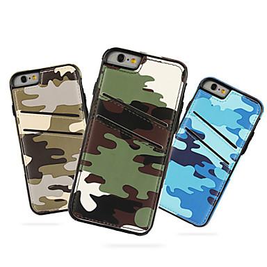 camuflar couro pu com slot para cartão caso capa Voltar para o iPhone 6 / 6s (cores sortidas)