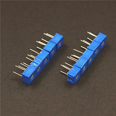 10kohm do potenciômetro resistências ajustáveis set - azul (10 pcs)
