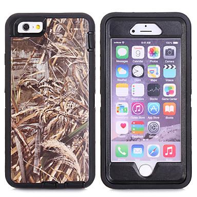 ramo camuflagem caso à prova de choque w / build-in protetor de tela para iphone 6 / 6s 4,7 polegadas plástico + TPU com tampa