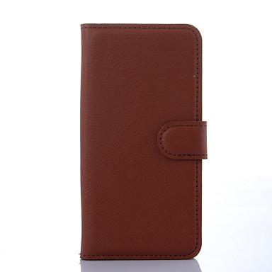 Para Samsung Galaxy Capinhas Carteira / Porta-Cartão / Com Suporte / Flip Capinha Corpo Inteiro Capinha Cor Única Couro PU SamsungS6 edge