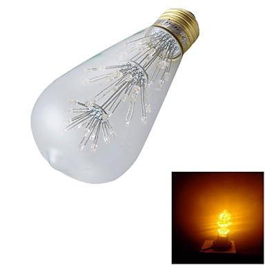 YouOKLight 1pc 130lm E26 / E27 LED Λάμπες Σφαίρα ST64 47 LED χάντρες Dip LED Διακοσμητικό Θερμό Λευκό 220-240V