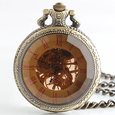 Αντρικά Ρολόι Τσέπης μηχανικό ρολόι Αυτόματο κούρδισμα κράμα Μπάντα Μπρονζέ