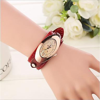 povoljno Ženski satovi-Žene Luxury Watches Modni sat Kvarc Koža Analog Elegantno - Lila-roza Svjetlosmeđ Tamno smeđa Dvije godine Baterija Život / Nehrđajući čelik