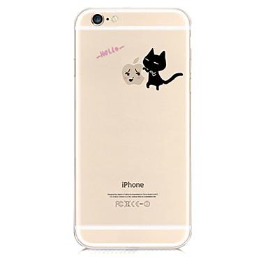Voor iPhone 6 hoesje Patroon hoesje Achterkantje hoesje Spelen met Apple-logo Zacht TPU iPhone 6s/6