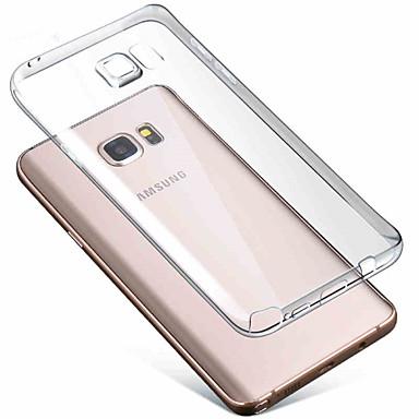 Para Samsung Galaxy Note Transparente Capinha Capa Traseira Capinha Cor Única TPU Samsung Note 5