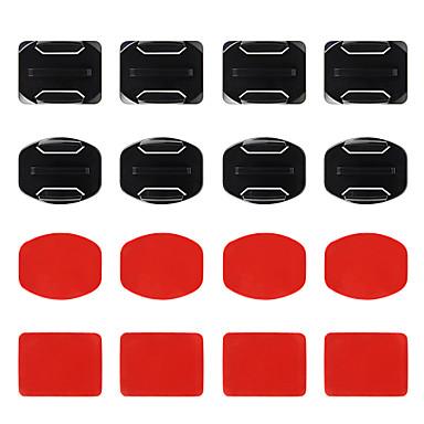 Curved Adhesive Pads Flat Adhesive Pads 접착제 마운트 올 인 원 에 대한 액션 카메라 전체 Gopro 5 Gopro 4 Black Gopro 4 Session Gopro 4 Silver Gopro 4 Gopro 3