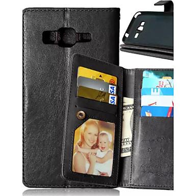 tok Για Samsung Galaxy Samsung Galaxy Θήκη Θήκη καρτών Πορτοφόλι με βάση στήριξης Ανοιγόμενη Πλήρης Θήκη Συμπαγές Χρώμα PU δέρμα για J5