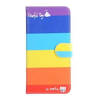 hoesje Voor Apple iPhone 6 iPhone 6 Plus Kaarthouder met standaard Flip Patroon Volledig hoesje Lijnen / golven Hard PU-nahka voor iPhone