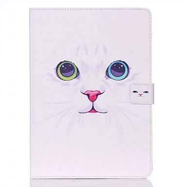 Capinha Para iPad Air 2 Porta-Cartão Com Suporte Capa Proteção Completa Flor PU Leather para