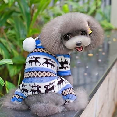 Câine Salopete / Pijamale Îmbrăcăminte Câini Fulg zăpadă Maro / Rosu / Albastru Lână polară Costume Pentru animale de companie Bărbați /