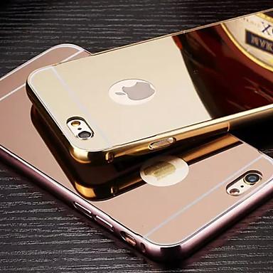 plating spiegel terug met metalen frame telefoon Case voor iPhone 6s 6 plus
