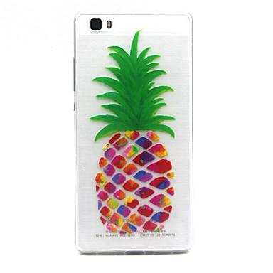 Voor Huawei hoesje Hoesje cover Transparant Achterkantje hoesje Fruit Zacht TPU voor Huawei