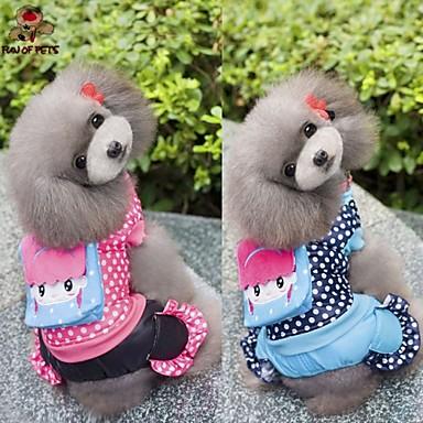 Hond Jassen Jumpsuits Hondenkleding Casual/Dagelijks Stippen Roos Blauw Kostuum Voor huisdieren