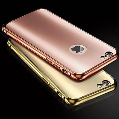 Voor iPhone 8 iPhone 8 Plus iPhone 6 iPhone 6 Plus Hoesje cover Beplating Achterkantje hoesje Effen Kleur Hard Metaal voor iPhone 7s Plus