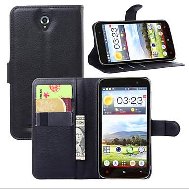 Voor Lenovo hoesje Portemonnee / Kaarthouder / met standaard / Flip hoesje Volledige behuizing hoesje Effen kleur Hard PU-leer Lenovo