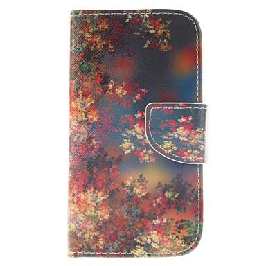 Para Samsung Galaxy Capinhas Porta-Cartão / Carteira / Com Suporte / Flip Capinha Corpo Inteiro Capinha Flor Couro PU Samsung S3