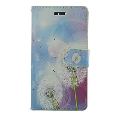 Para Samsung Galaxy Capinhas Porta-Cartão / Carteira / Com Suporte / Flip Capinha Corpo Inteiro Capinha Dente de Leão Couro PU SamsungS5