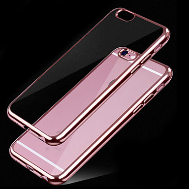 voordelige iPhone-hoesjes-hoesje Voor Apple iPhone X / iPhone 8 Plus / iPhone 8 Beplating / Transparant Achterkant Effen Zacht TPU