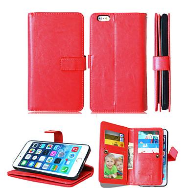 pu leer + TPU achterkant portemonnee veel kaarthouders + contant slot + fotolijst magnetische telefoon Case voor iPhone 6 plus / 6s plus