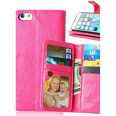 Για iPhone X iPhone 8 iPhone 6 iPhone 6 Plus Θήκες Καλύμματα Θήκη καρτών Πορτοφόλι με βάση στήριξης Ανοιγόμενη Πλήρης κάλυψη tok Συμπαγές