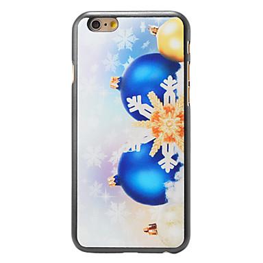 kerst stijl sneeuwvlok en klokken patroon pc harde rugdekking voor iPhone 6