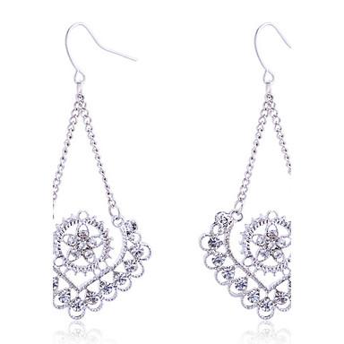 Γυναικεία Κρεμαστά Σκουλαρίκια Καρδιά Κρύσταλλο Κράμα Λουλούδι Καρδιά Κοσμήματα Ασημί Πάρτι Καθημερινά Causal Κοστούμια Κοσμήματα