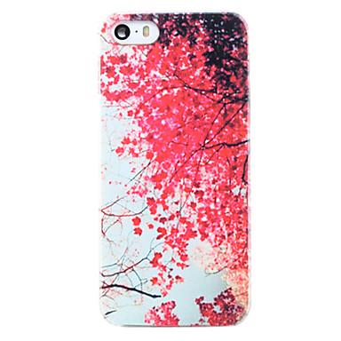 Για Θήκη iPhone 5 Με σχέδια tok Πίσω Κάλυμμα tok Λουλούδι Σκληρή PC iPhone SE/5s/5