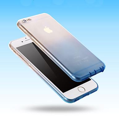 voordelige iPhone 5 hoesjes-hoesje Voor iPhone 5 / Apple iPhone SE / 5s / iPhone 5 Transparant Achterkant Kleurgradatie Zacht TPU
