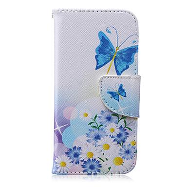 vlinder patroon pu leer materiaal flip-kaart telefoon Case voor iPhone 6 / 6s
