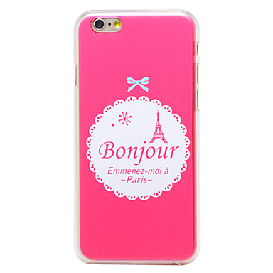 Voor iPhone 6 hoesje / iPhone 6 Plus hoesje Patroon hoesje Achterkantje hoesje Eiffeltoren Hard PC iPhone 6s Plus/6 Plus / iPhone 6s/6