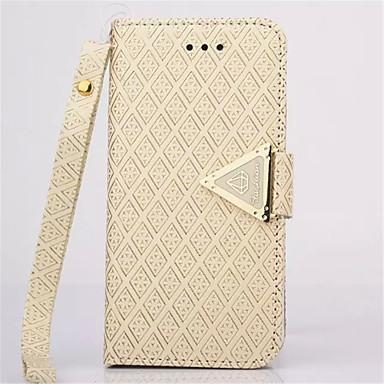 diamante tampa de couro estar carteira pulseira capinha da tampa corda para iPhone 6 / 6s plus