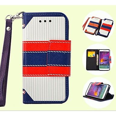 Voor Samsung Galaxy Note Portemonnee / Kaarthouder / met standaard / Flip hoesje Volledige behuizing hoesje Lijnen / golven PU-leer