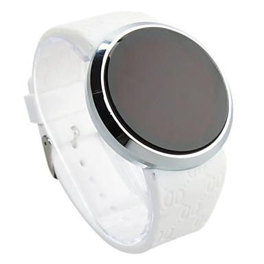 זול שעוני גברים-בגדי ריקוד גברים שעון יד שעון דיגיטלי דיגיטלי סיליקוןריצה שחור עמיד במים מסך מגע יצירתי דיגיטלי שחור שחור / לבן לבן / כסוף שנתיים חיי סוללה / LED / Panasonic CR2032
