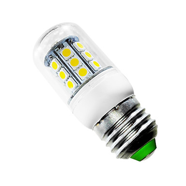 2.5W E26/E27 LED Corn Lights T 27 leds SMD 5050 Warm White 150-200lm 2500-3500K AC 85-265V