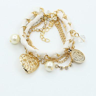Lánc & láncszem karkötők Egyedi Vintage Bájos Party Munkahelyi Alkalmi aranyos stílus Divat minimalista stílusú Gyöngyutánzat Arannyal
