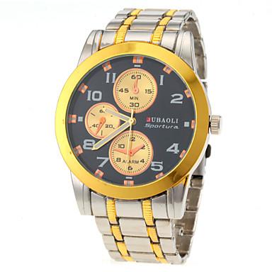 JUBAOLI Masculino Relógio de Pulso Quartzo Aço Inoxidável Banda Prata Preto Vermelho Azul Dourado Dourado-Preto