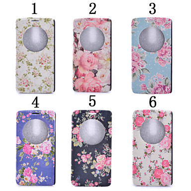 tok Για LG G3 Mini LG G3 LG LG G5 LG G4 Θήκη LG με βάση στήριξης με παράθυρο Πλήρης Θήκη Λουλούδι Σκληρή PU δέρμα για
