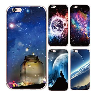 Capinha Para iPhone 6 iPhone 6 Plus Estampada Capa Traseira céu Cenário Macia TPU para iPhone 6s Plus iPhone 6 Plus iPhone 6s iPhone 6