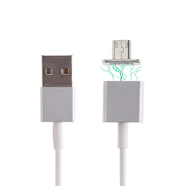 cheap Phone Cables & Adapters-Micro USB 2.0 / USB 2.0 Cable 1m-1.99m / 3ft-6ft Magnetic PVC(PolyVinyl Chloride) / Metal USB Cable Adapter For Samsung / Huawei / LG